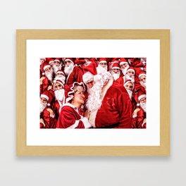 Santa Claus and Mrs. Claus Framed Art Print