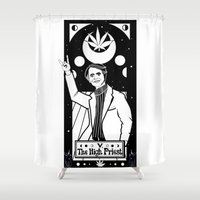 carl sagan Shower Curtains featuring HAIL SAGAN! by LADYMAGICUNICORN