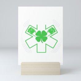 We Respond Four Leaf Clover Shamrock St Patrick Beer Festivals Irish Gift Mini Art Print