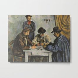 The Card Players Metal Print