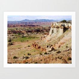 Painted Desert Valley Art Print