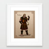 valar morghulis Framed Art Prints featuring Tulkas by wolfanita