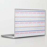 aztec Laptop & iPad Skins featuring Aztec by Joanne Hawker