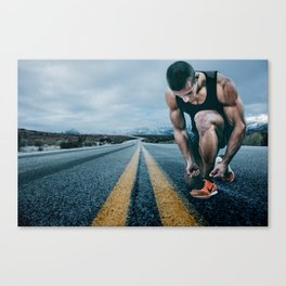 Runner on the Road Canvas Print