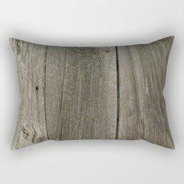 Weathered Barn Wood Door Rectangular Pillow