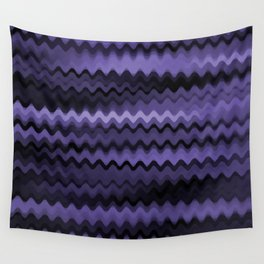 Purple Waves Abstract Wall Tapestry