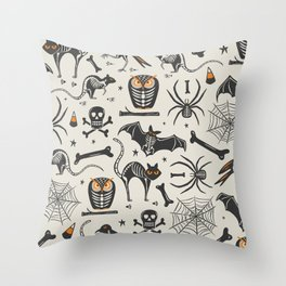 Halloween X-Ray Throw Pillow