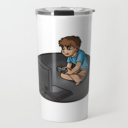 Gaming Life - Video Games Gamer Clan Playing Fun Travel Mug