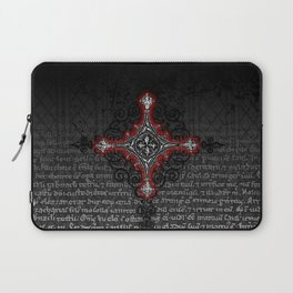Noble House II CRUSADER RED / Grungy heraldry design Laptop Sleeve