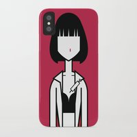 mia wallace iPhone & iPod Cases featuring Mia by Ale Giorgini