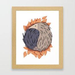 Hedgehog Yin Yang Framed Art Print