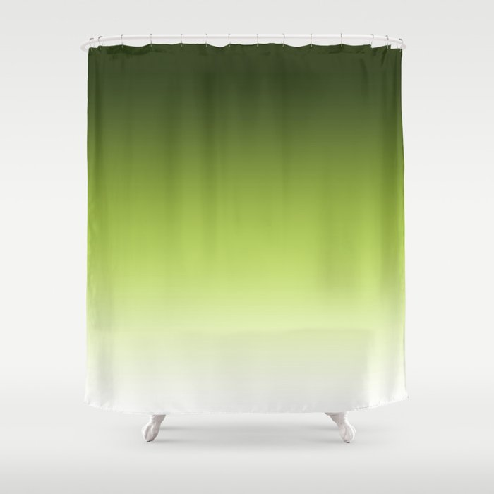 Olive ,green , Ombre Shower Curtain by decoli | Society6