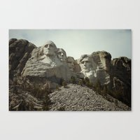 rushmore Canvas Prints featuring Mount Rushmore by Jeremy Jon Myers