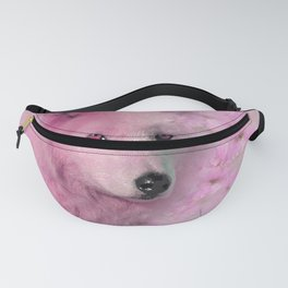 PINK WOLF FLOWER SPARKLE Fanny Pack