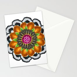 Agate mandala Stationery Cards