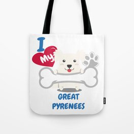 GREAT PYRENEES Cute Dog Gift Idea Funny Dogs Tote Bag