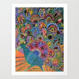 Peacock # 5 Art Print