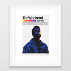 TheWeeknd Framed Art Print