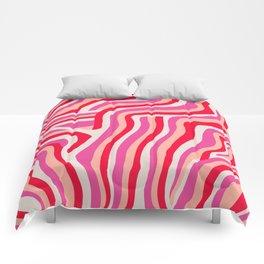 pink zebra stripes Comforters