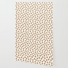 Pattern design with chocolate chip cookies Wallpaper