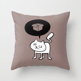 minima - derpicat | box Throw Pillow