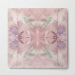 Hummingbird Selah Mirror - Rose & Sage Palette Metal Print