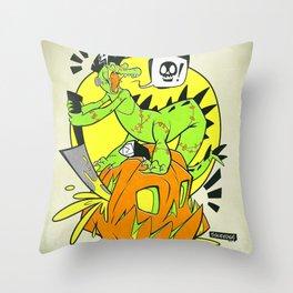 Croc-O-Ween Throw Pillow