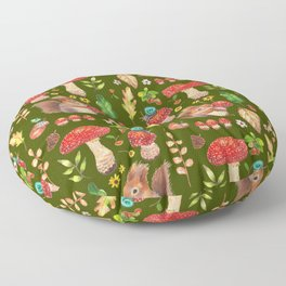 Red mushrooms and friends - GBG Floor Pillow