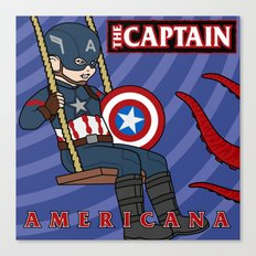 Captain Americana Canvas Print
