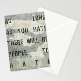 Quote - no more hate Stationery Cards