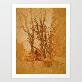 Bare Trees Art Print