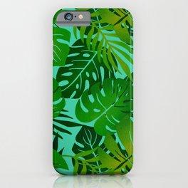 Jungle Leaves 1 iPhone Case
