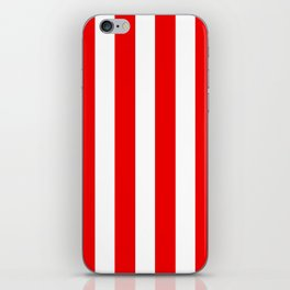 Holidaze Stripe Red White Vertical iPhone Skin