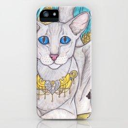 Oriental short hair cat iPhone Case