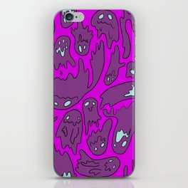Purple Ghosties iPhone Skin