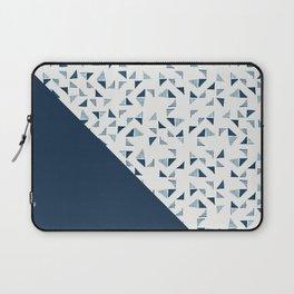 Indigo Triangles #society6 #pattern #indigo Laptop Sleeve