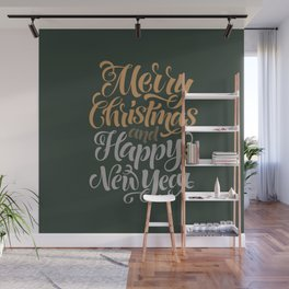 Merry Christmas & Happy New Year Wall Mural