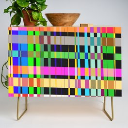 inclined coloured stripes Credenza