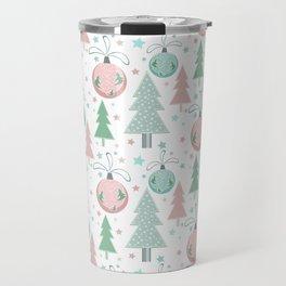 Christmas white pattern Travel Mug