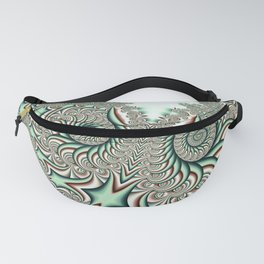 Owl Fractal Chocolate Mint Fanny Pack