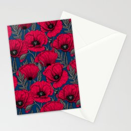 Night poppy garden  Stationery Cards
