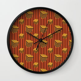 liquorice orange Wall Clock