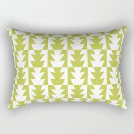 Art Deco Jagged Edge Pattern Chartreuse Rectangular Pillow