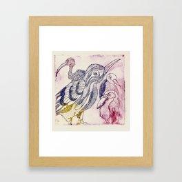 fascinating birds Framed Art Print
