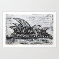 sydney Art Prints featuring Sydney by sladja