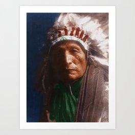 Eagle Elk (He Xa Wan ba li) - Oglala - American Indian Art Print
