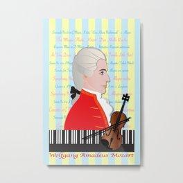 Wolfgang Amadeus Mozart Metal Print