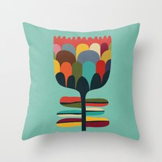 Flower Poet Throw Pillow