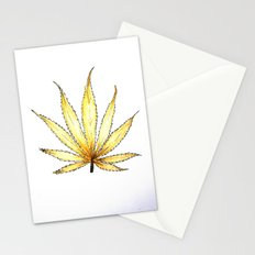 Golden Cannabis Stationery Cards