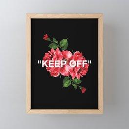 Keep Off White – Roses Framed Mini Art Print